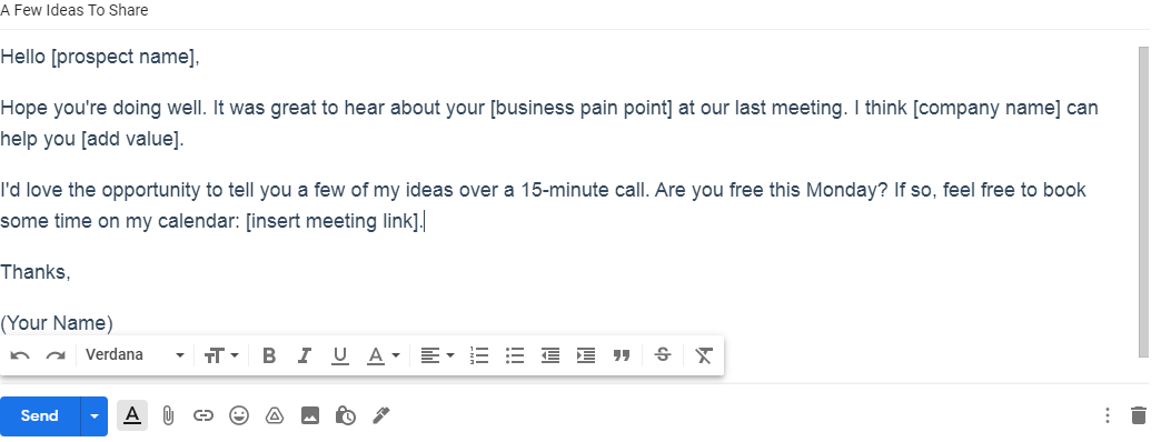 Follow up email template 3