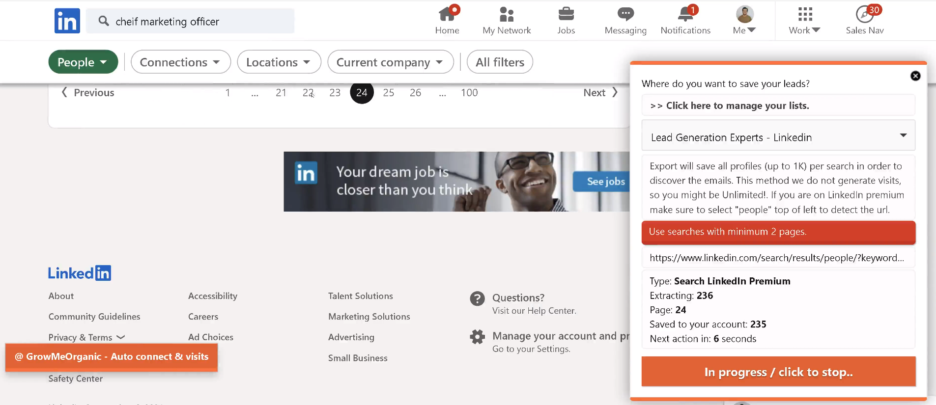 Find Linkedin Prospects Email