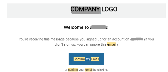 Confirmation Email Optimization
